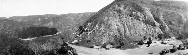 Historical panorama of Aliso Canyon.