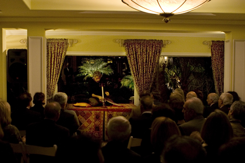 Kayhan Kalhor, master kemanche player, plays an intimate concert at a private residence in Laguna Niguel.