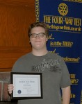 Rotary Honors a Student Standout
