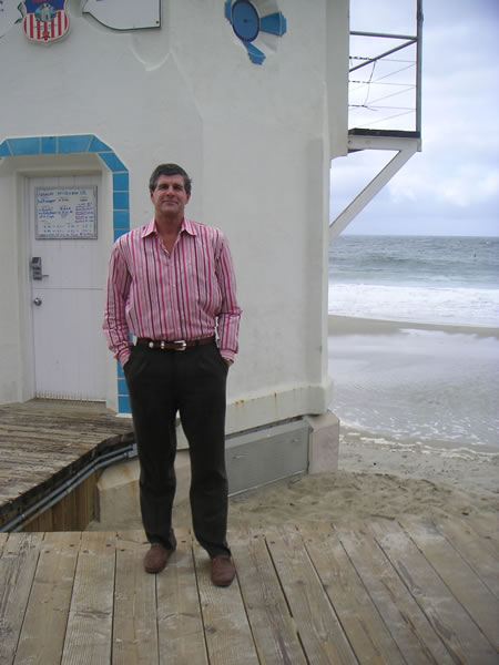 David Mason at the LB Lifeguard tower
