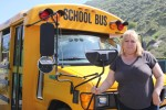 Union organizer Gina Beck drives special-needs kids for the Laguna schools.