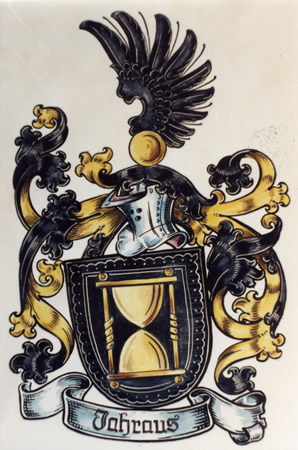 The family coat of arms from Germany.