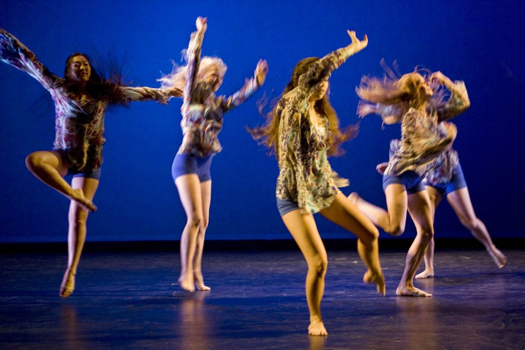 Student dancers exude energy in performances this weekend. Photo by Ted Reckas
