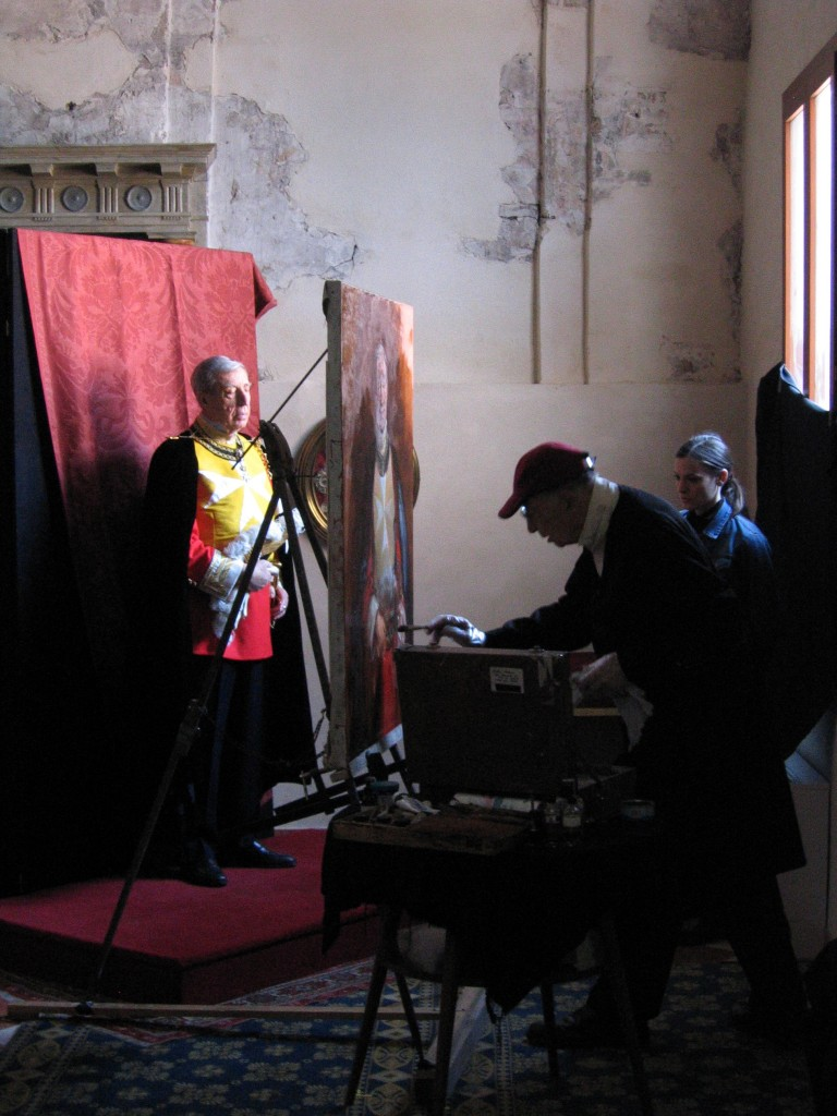 Filming included Frank Mason's work on a portrait commission of the Grand Prior of the Knights of Malta in Venice, Italy, in 2006.