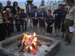 Scout Pack Holds Flag Retirement Ceremony