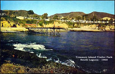 A 1960s era postcard of Treasure Island. Photo courtesy of  Andy Hedden.
