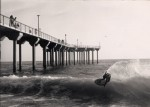 The Aliso Pier during a Victoria skimboard contest in the late '90s.
