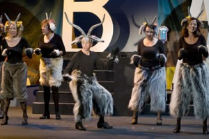 "Making fun of Laguna's brush-clearing goats remains a beloved ""Lagunatics"" tradition, as seen in this 2009 show."