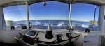 The 160º view of Main Beach and beyond from the tower's top floor just after sunrise.