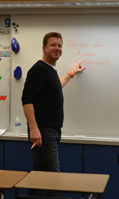 Early Edmodo adopter, Thurston Middle School teacher Carl Nelson.