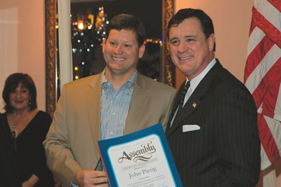 City Manager John Pietig was awarded the Chamber's Spirit of Laguna award for government official of the year.