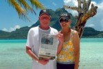 Locals Tom and Sandi Terry in December in Bora Bora, French Polynesia's Society Islands.