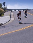 Skateboarding on Skyline Heads Downhill