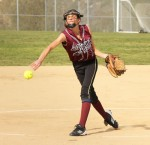 Freshman Halle Redfearn pitched a complete game shutout of Oxford Academy last Friday, March 16, at Thurston to run the team's season record to 5-4.