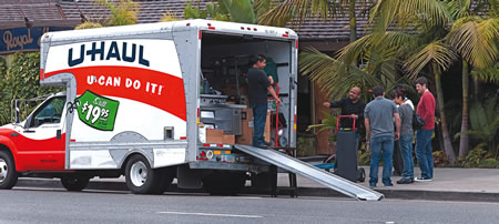On Monday, kitchen equipment and supplies extracted from the Royal Hawaiian are loaded onto a Uhaul truck.