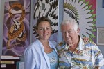 Christine Green and Jerry Thompson, owners of recently opened AIR Laguna, a gallery to showcase the art of recovering alcoholics and or drug users.