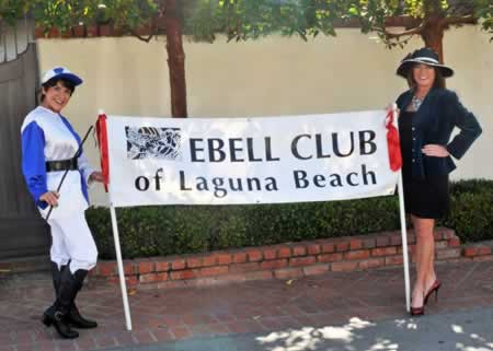 Sylvia Newton-Robbins, left, and Ebell Club president Amy Altier gear up in anticipation of the club fundraiser. Photo by Don Romero