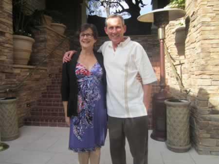 Kirsten and Robert Whalen, Boys and Girls Club supporters, check out the premises prior to the gala.
