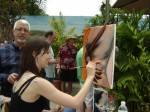 Live Painting Demos at Weekend Wine Tasting