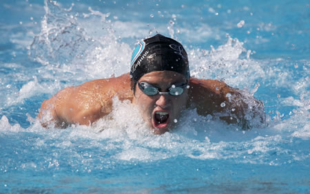 Senior Billy Wild was the number one seed in the 100 yard butterfly at CIF.