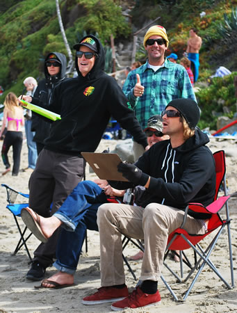 Surfabout judges, from left, Darren Madrigal, Bobby Lockhart, Doug Bunting and Hans Hagen.