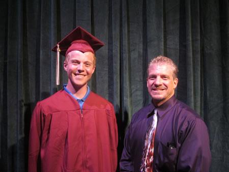 Rotary Club of Laguna Beach presented Robert Kellogg Eagle Scout Memorial Scholarship recipient Timothy Peterson (left). Photo by Marsha Aronoff.