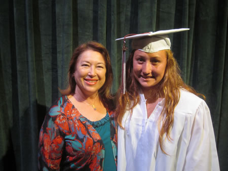 Weaver Family Scholarship recipient Yoshiye Andersen (right). Photo by Marsha Aronoff.