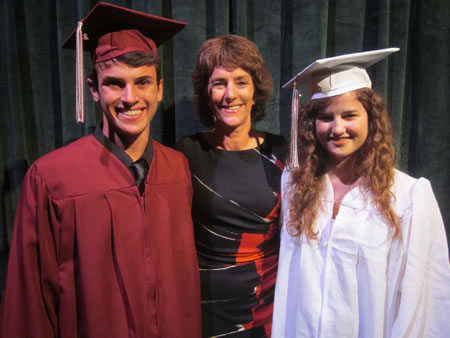 Luby Family Musical Theatre Scholarship recipients Nicolas Leighton (right) and Elizabeth Davis. Photo by Marsha Aronoff.