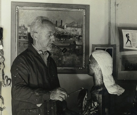 One of the works by Paul Outerbridge donated to the Festival of Arts, a photo of artist and Festival founder Roy Ropp in his studio.