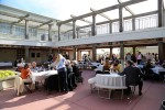 The scene of an al fresco dinner for donors preceding the presentations last Friday at the high school. Photo by Jody Tiongco