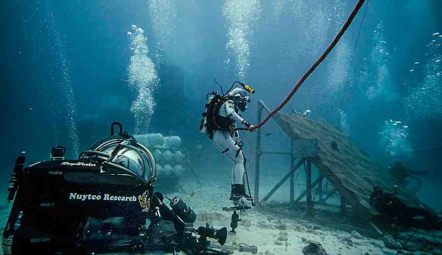 From the Aquarius undersea lab, where MacGillivray Freeman begins shooting real-time programming from an underwater expedition July 16.