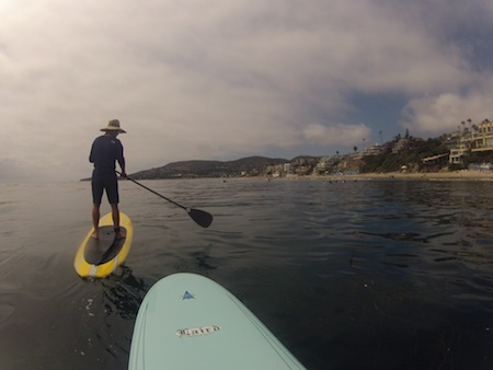 The view of Laguna's coastline from a paddleboard. Photos by Danielle Robbins