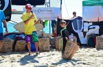 Youngest skim boarder, Taj Johnson, 5, of San Juan Capistrano won youngest Skim board award. Photo by Danielle Robbins
