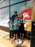 Alisa Schwarzstein-Cairns and her family at the Surfing Hall of Fame presentation in Huntington Beach.