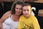 Sabrina McMurray and her son William last August.