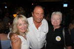 Restaurant owner Ivan Spiers with council member Elizabeth Pearson, left, and Mayor Jane Egly.