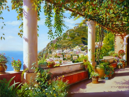 4 art seen Artists eye View of Positano-Giorgio