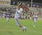 Andres DelaRosa's interception in the second quarter where the junior ran 36-yards for a touchdown.