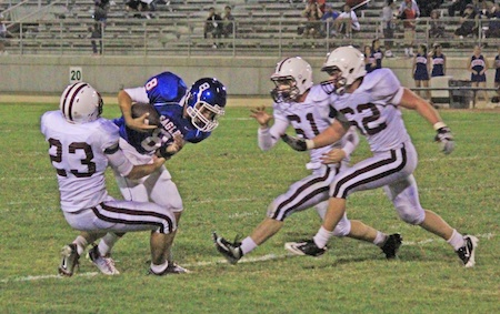 Adam Lythgoe (23), Michael Sofferman (61) and Joseph Casey (62) in action against Glenn High.