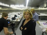 Film producer Natalie Costa in the Orange County morgue.