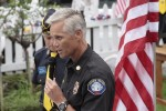 Fire Chief Kris Head at a Sept. 11 ceremony the week before.