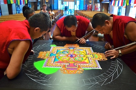 Monks return to reprise their painstaking artistry. Photo by Danielle Robbins