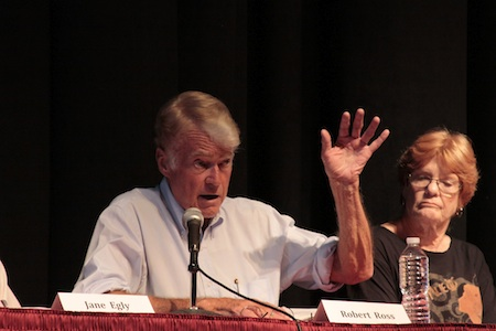 Robert Ross makes a point during a candidate forum during his ill-fated 2012 run for Laguna Beach City Council.