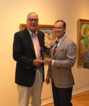 Volunteer of the Year Dennis Boyer, left, with Laguna Art Museum Chairman Robert Hayden III.
