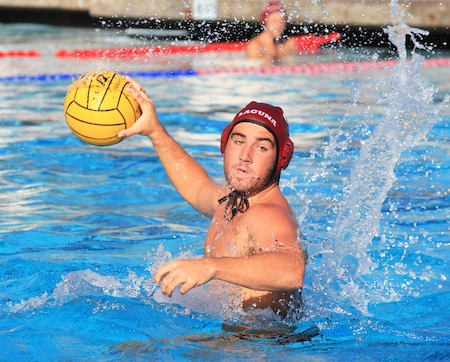 Senior Camron Hauer in action against Murietta Valley last Monday