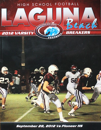 The Breaker program cover features Dante's handiwork.