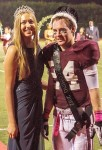 57th Homecoming Queen Amanda Kimball and King Robbie McInerny.