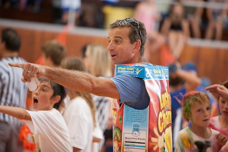 Cereal Dodgeball Assassins and coach Mike Blanchard snagged best costume winner.