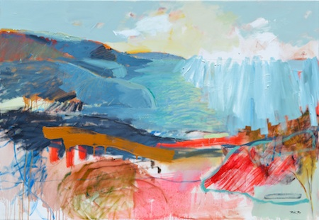 Abstract work and realism go head to head in the Pacific Edge exhibit.