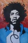 Steve Felix's Jimi Hendrix portrait.